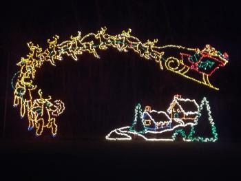 Thousands of lights make the Winterland Holiday Light Show in Danville a very popular attraction.