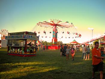 The 4-H Fair Midway and its popular rides is always a visitor favorite.