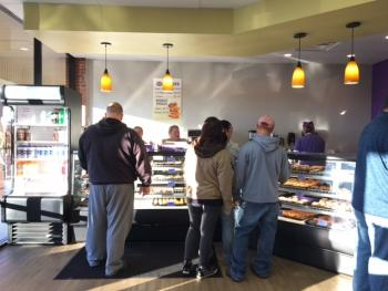 Customers line up for Jack's Donuts in Avon.
