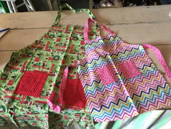 Children's aprons at The Watermelon Patch