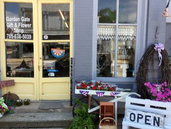 You can't miss the storefront of Garden Gate Gift & Flower Shop along the main drag in North Salem.