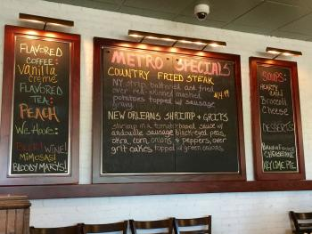 Be sure to check the specials on the back wall of The Metro Diner while you're there.