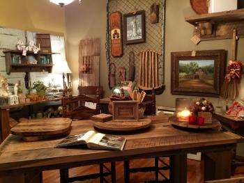 Forget Me Nots in Danville is packed with custom furniture, home decor and more created by Chris Threlkel out of wood from salvaged Hendricks County barns.