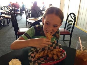 The Bruin House chicken fingers kids meal met my ultra-picky daughter's approval.
