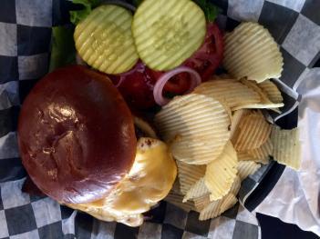 Behold the Bruins Burger!