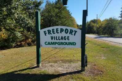 Freeport Village Campground sign