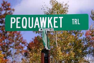 Pequawket Trail Sign