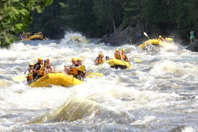 Whitewater rafting on the Kennebec River