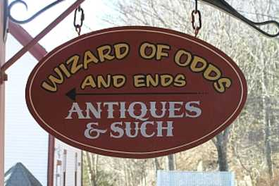 Wizard of Odds & Ends Sign