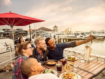 LGBT Waterfront Outdoor Dining