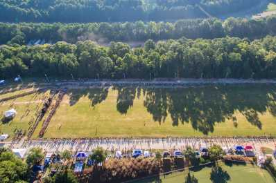 Aerial view of WakeMed Soccer Park XC Course