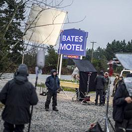 The production of Bates Motel in action