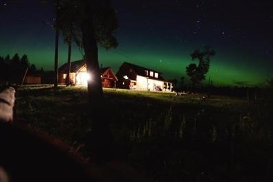 Northern Lights over the Ranch