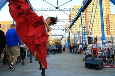 Dancer In Grand Rapids Downtown