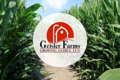 Geisler Farms Corn Maze and logo