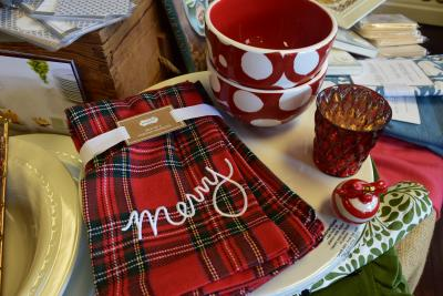 Festive holiday napkins from Enchanted Forest