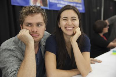 Finn Jones and Jessica Henwick - Photo by Sean Christian Bellinger