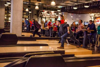 Duck pin bowling at Pins Mechanical Company