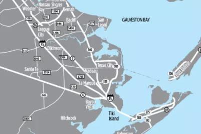 Bay Area/Galveston Map