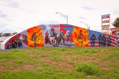 Fire Dept Mural on S. Garden Street