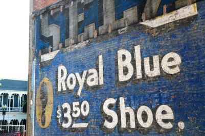 Royal Blue Sign on S. Main Street