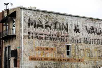 Martin & Vaughn Ghost Sign on E. 7th Street
