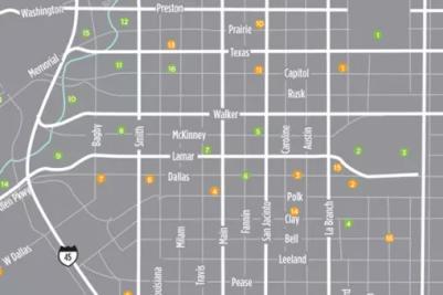 Downtown Houston Map