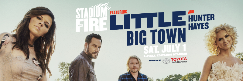 Little Big Town Stadium of Fire 800