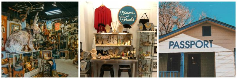 Uncommon Objects and Bloomers and Frocks and Passport Vintage shops in South Austin