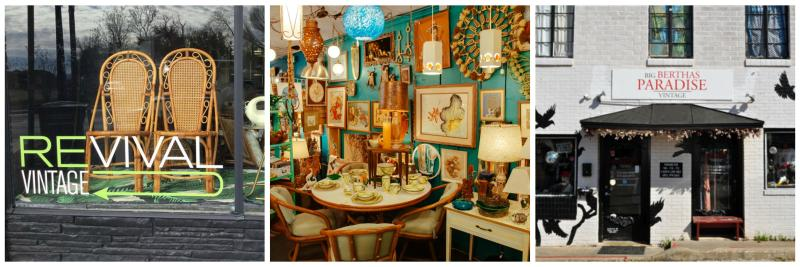 Revival Vintage and Room Service Vintage and Big Berthas Paradise vintage shops in Central Austins North Loop neighborhood