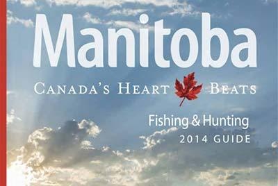 2014 Fishing & Hunting Guide cover, Travel Manitoba