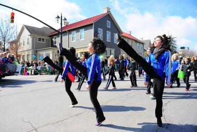 Irish dancers parading through the streets of Historic Dublin, Ohio.