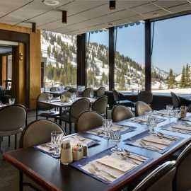 View from the dining room of Alta Lodge.