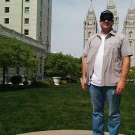 Brett at Temple Square