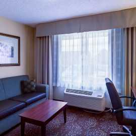 double Queen beds, Sofa sleeper area in the Queen Suite rooms