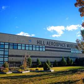 Hill Aerospace Museum in the fall