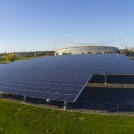 Utah Olympic Oval Solar Panels