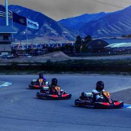 Karting after dark