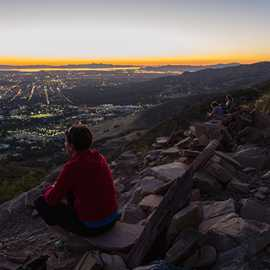 Enjoying the sunset from The Living Room, photo by John Badila