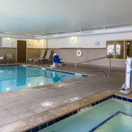Indoor pool and whirlpool is open 24 Hours
