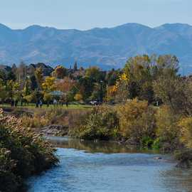 The view looking south toward the Oquirrh Mountains, photo by Kyle Jenkins