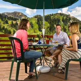 Alta Lodge summer dining on the deck