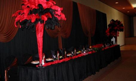 Halls of St. George Schererville Banquet Red Black