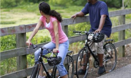Indiana Dunes National Lakeshore Hobart Prairie Trail Biking