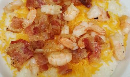 J's Breakfast Club Shrimp and Grits