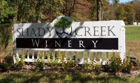 Shady Creek Winery Michigan City sign