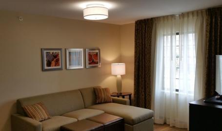 Staybridge Suites Merrillville Hotel sleeper sofa