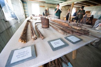Artifacts in the historic York Factory in Manitoba
