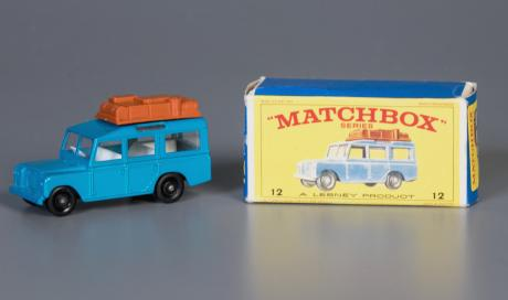 matchbox car and box