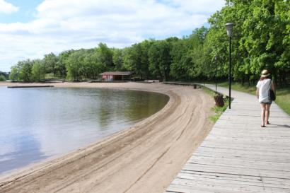 Minnewasta Beach in Morden, Manitoba